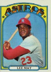 1972 Topps Baseball Cards      480     Lee May